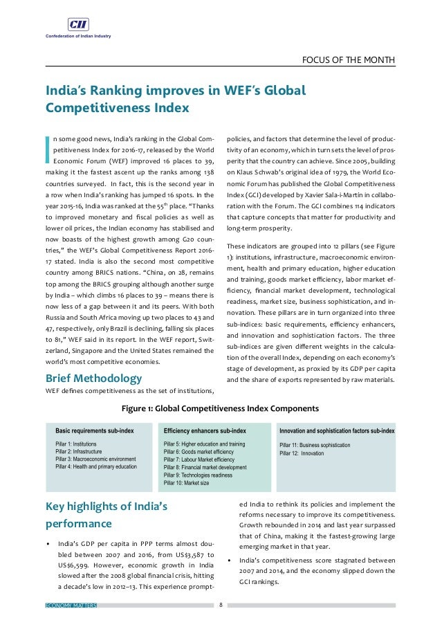 11 FOCUS OF THE MONTH NOVEMBER 2016 India Moves up in World Bank's 'Ease of Doing Business' Ranking I ndia improved its ra...