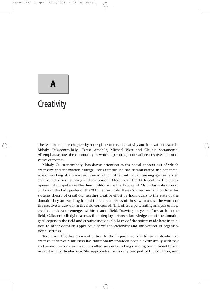 Henry-3442-01.qxd   7/12/2006    6:01 PM   Page 1                     A             Creativity             The section con...