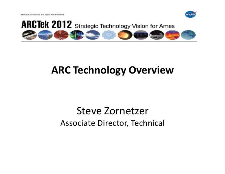 ARC Technology Overview        Steve Zornetzer   Associate Director, Technical