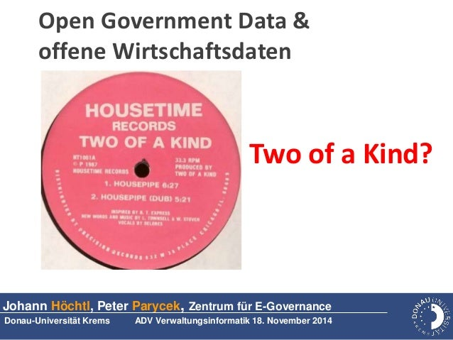 Open Government Data & offene Wirtschaftsdaten - Two of a Kind?