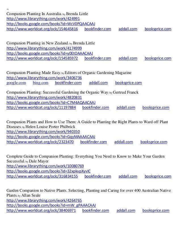 Herb Companion Planting Chart Herbal gardens – Sample Companion Planting Chart