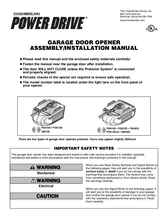 Chamberlain User Manual Car Owners Manual
