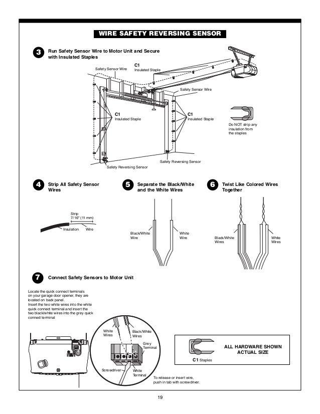 chamberlain garage door opener manual 19 638?cb=1465066307 garage door sensor wire wageuzi garage door safety sensor wiring diagram at mifinder.co