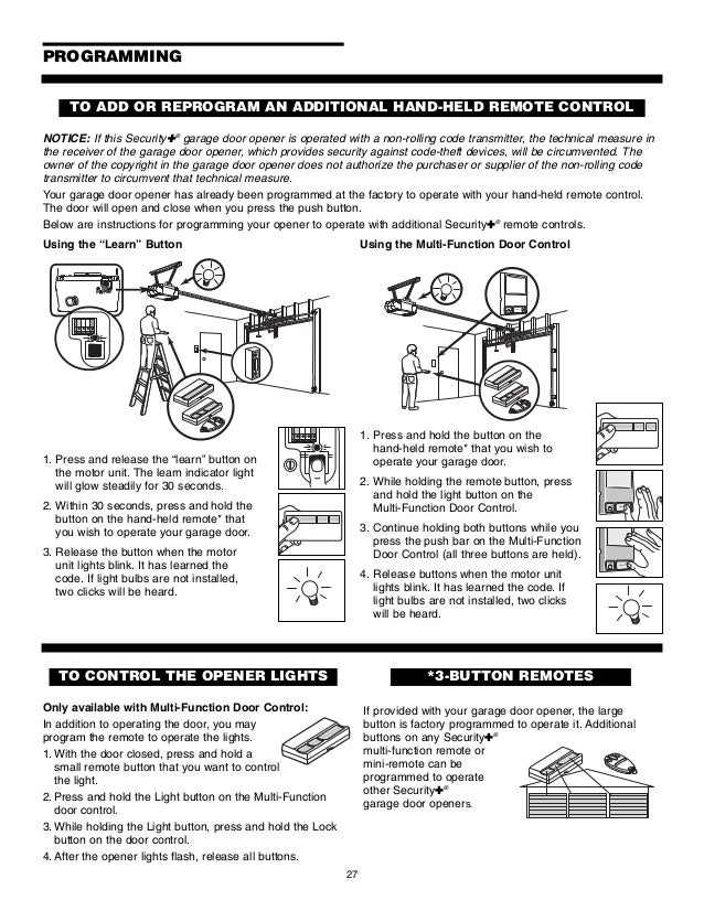 Chamberlain Garage Door Opener Keypad chamberlain garage door opener manual