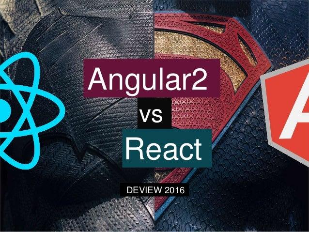Angular2 React vs DEVIEW 2016