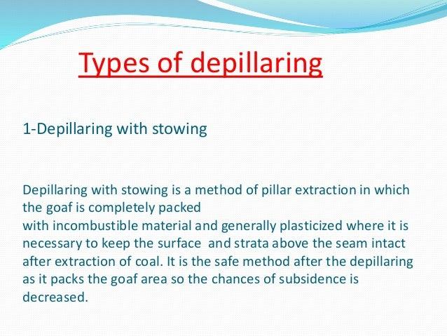 Depllaring In Coal Mines
