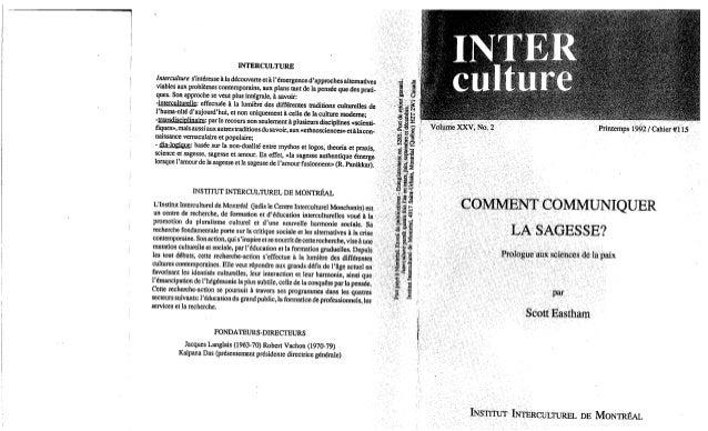 115 comment communiquer la sagesse? s. eastham. (document à télécharger en format pdf, 1,6 mb)