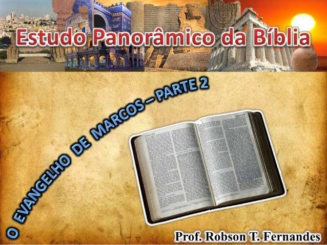 MARCOS                  AUTORIAO Evangelho é anônimoPais apostólicos atribuem a Marcos    Papias, Bp. em Hierápolis (~135-...