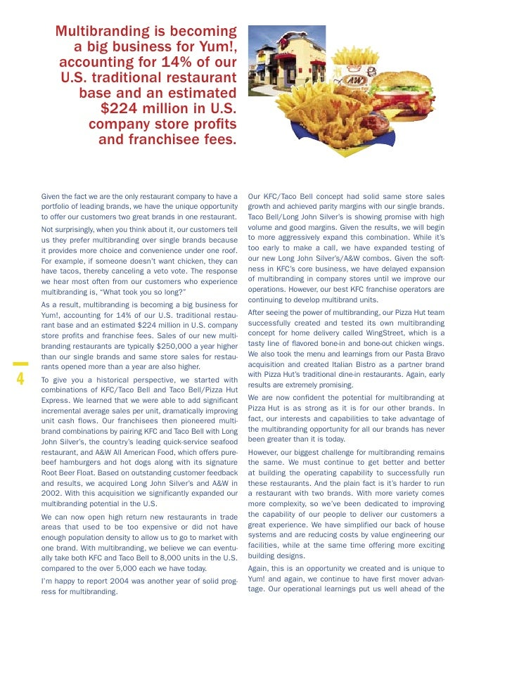 financial analysis report yum brands Brands, inc : foodservice - company profile, swot & financial analysis yum brands, inc : foodservice - company profile, swot & financial analysis summary canadean's yum - market research report and industry analysis - 10061374.