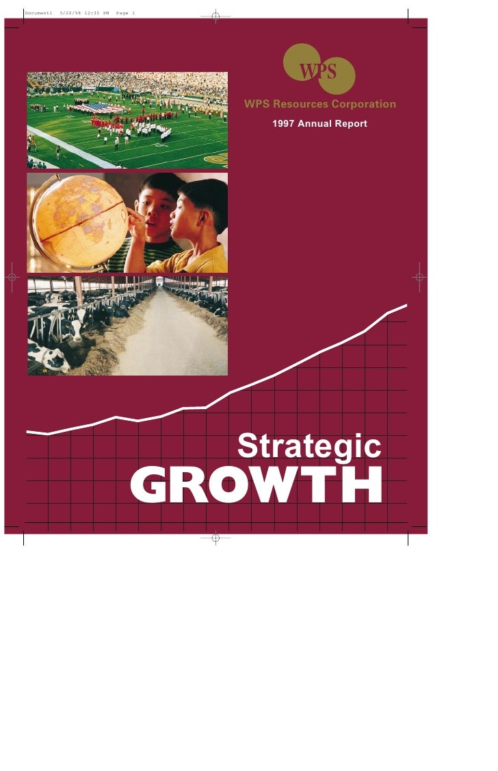 WPS Resources Corporation       1997 Annual Report       Strategic GROWTH