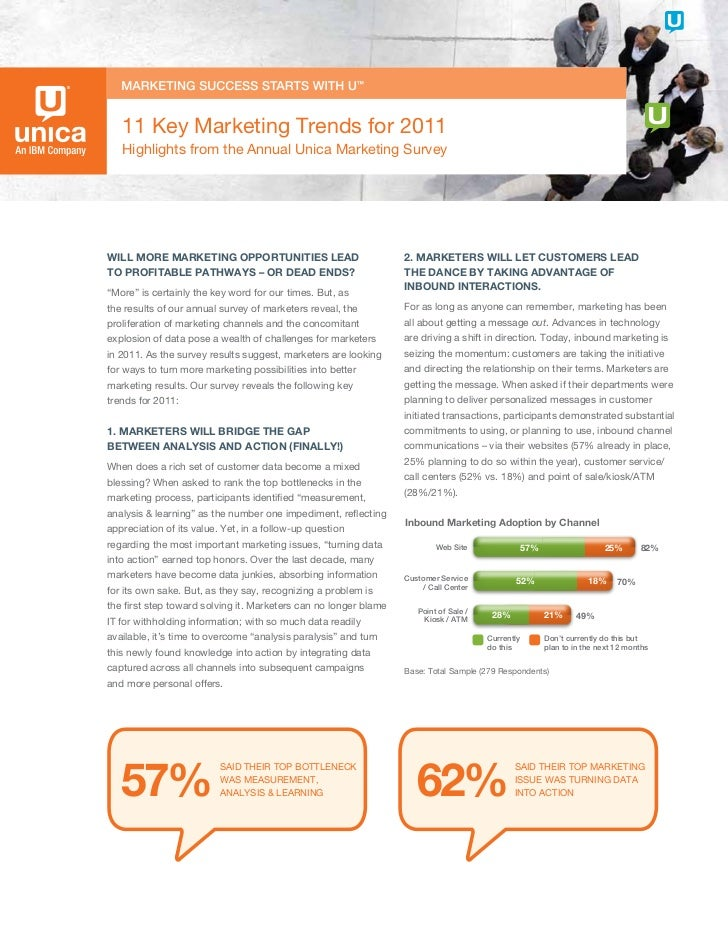 11 Key Marketing Trends for 2011   Highlights from the Annual Unica Marketing SurveyWILL MORE MARKETING OPPORTUNITIES LEAD...