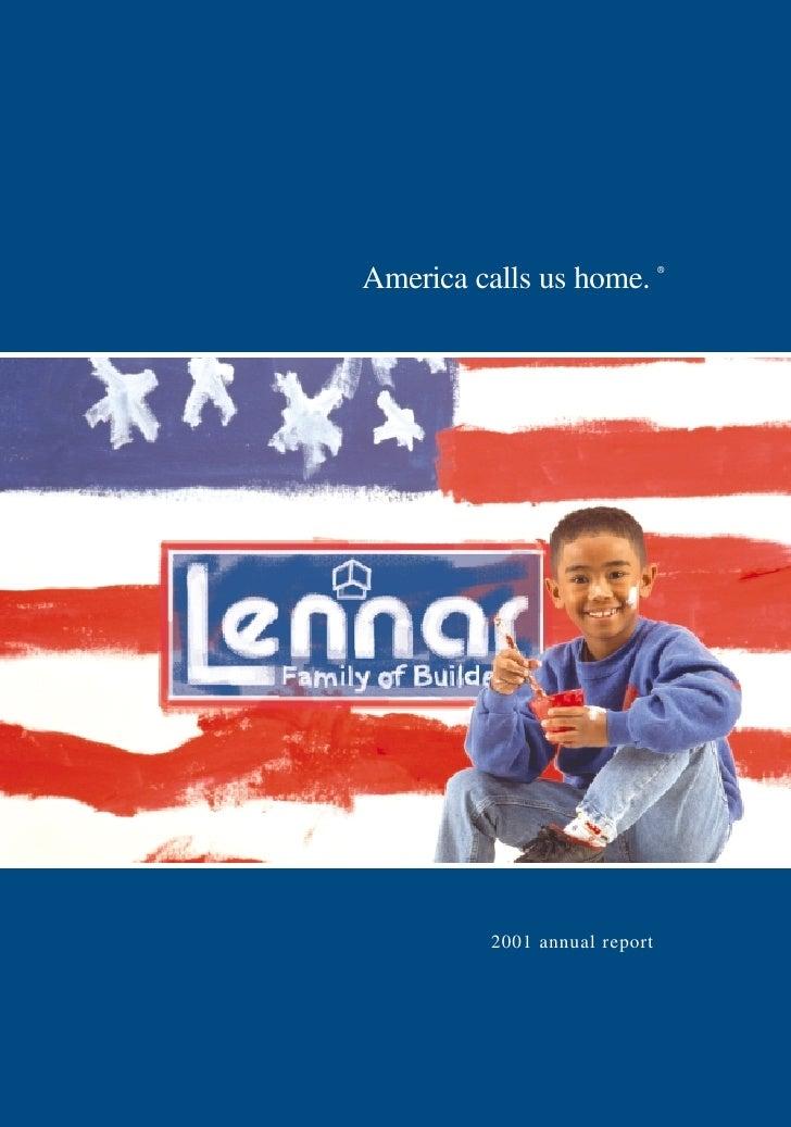America calls us home.        ®              2001 annual report