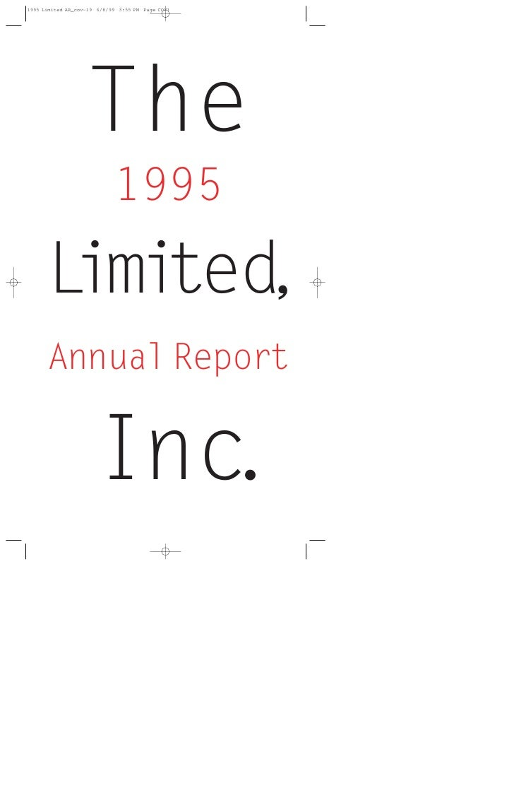 The    1995  L ted,  imi Annual Report     Inc.