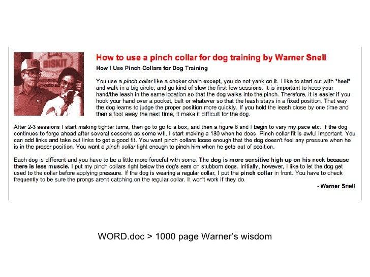 WORD.doc > 1000 page Warner's wisdom