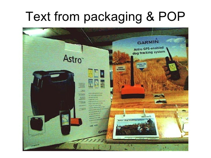 Text from packaging & POP
