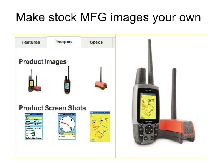 Make manufacturer images your own  Make stock MFG images your own