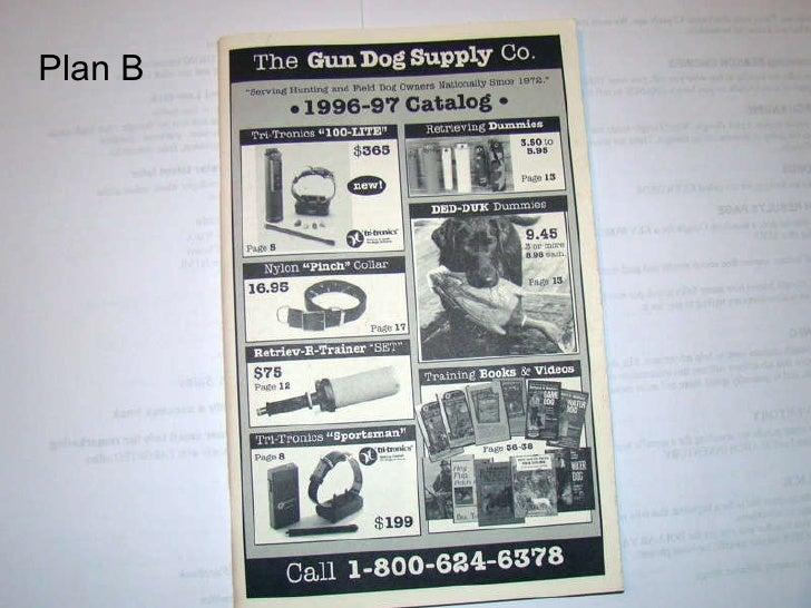 B&w catalog Plan B