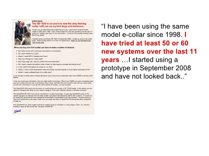 """"""" I have been using the same model e-collar since 1998.  I have tried at least 50 or 60 new systems over the last 11 years..."""