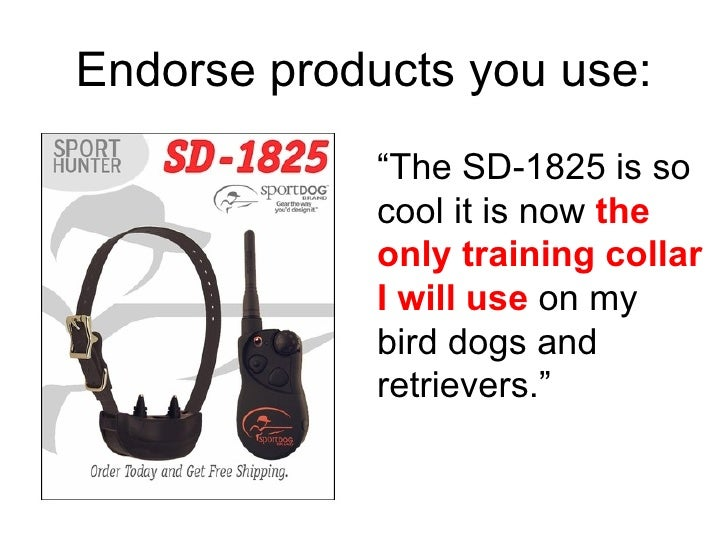 """"""" The SD-1825 is so cool it is now  the   only training collar I will use  on my bird dogs and retrievers."""" Endorse produc..."""
