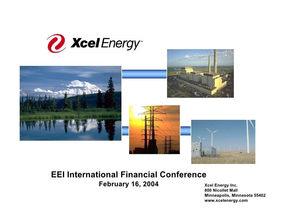 EEI International Financial Conference            February 16, 2004         Xcel Energy Inc.                              ...