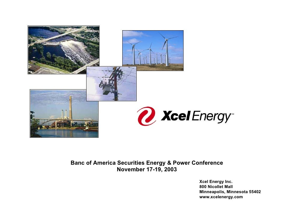 Banc of America Securities Energy & Power Conference                 November 17-19, 2003                                 ...