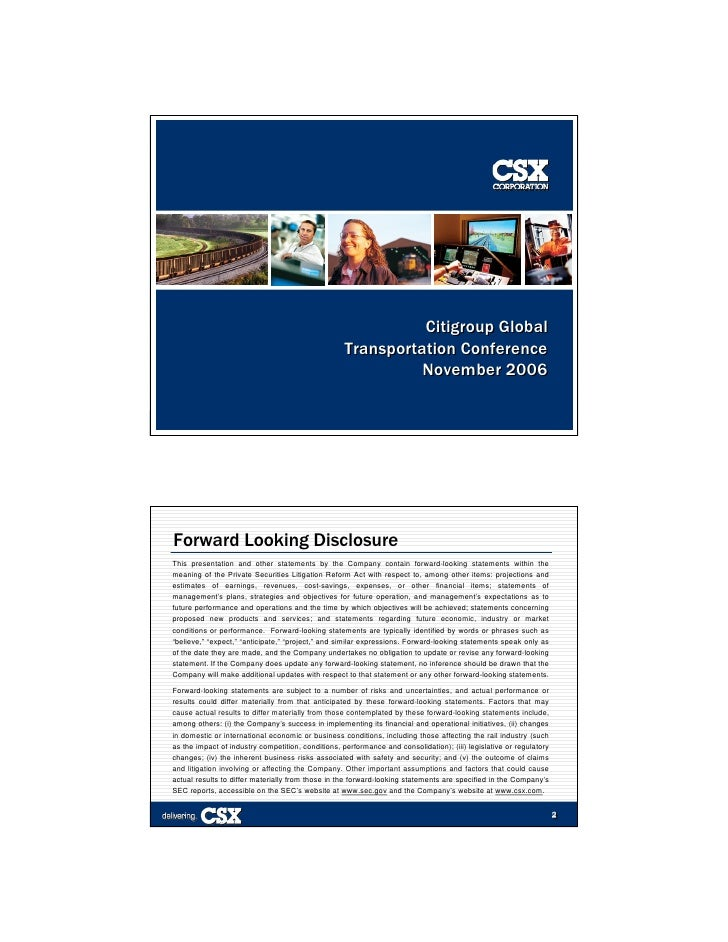 Citigroup Global                                                     Transportation Conference                            ...