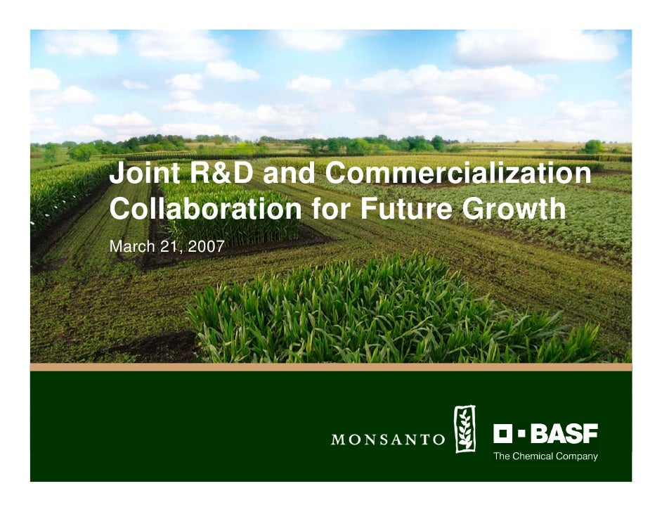 Joint R&D and Commercialization Collaboration for Future Growth March 21, 2007                         MARCH 21, 2007