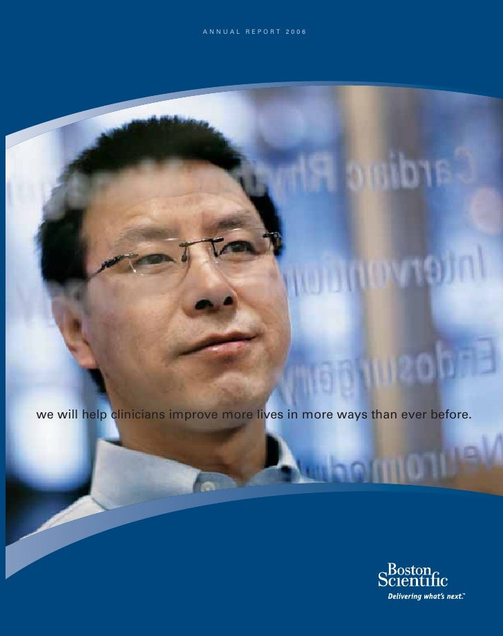 ANNUAL REPORT 2006     we will help clinicians improve more lives in more ways than ever before.                          ...