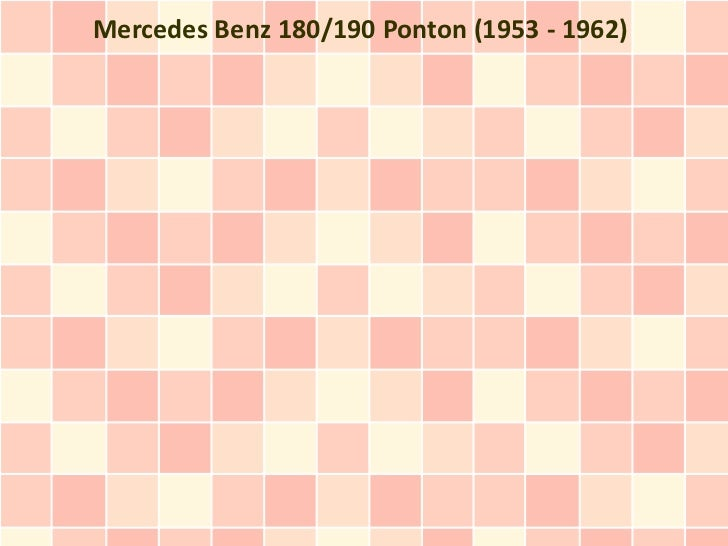 Mercedes Benz 180/190 Ponton (1953 - 1962)