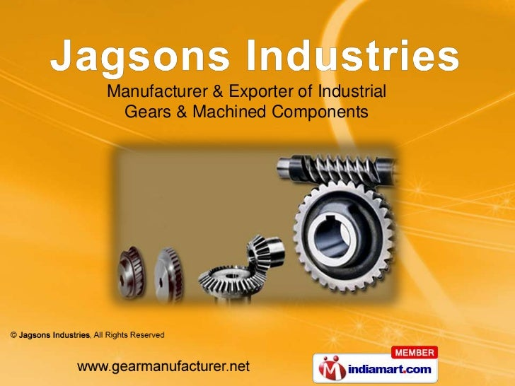 Manufacturer & Exporter of Industrial Gears & Machined Components