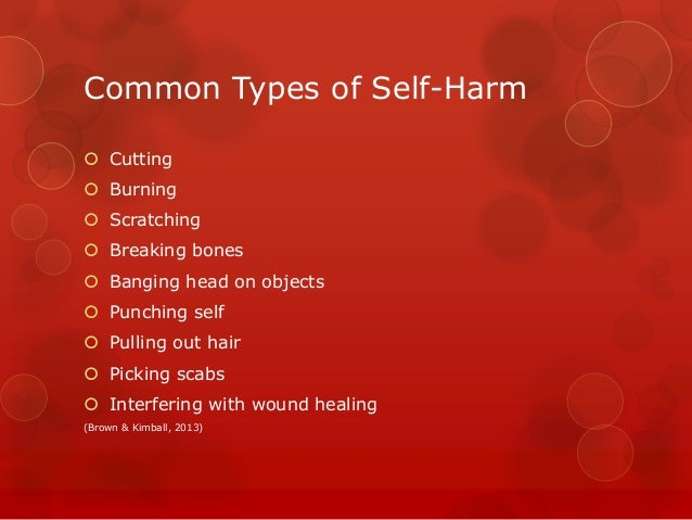 self harm research paper