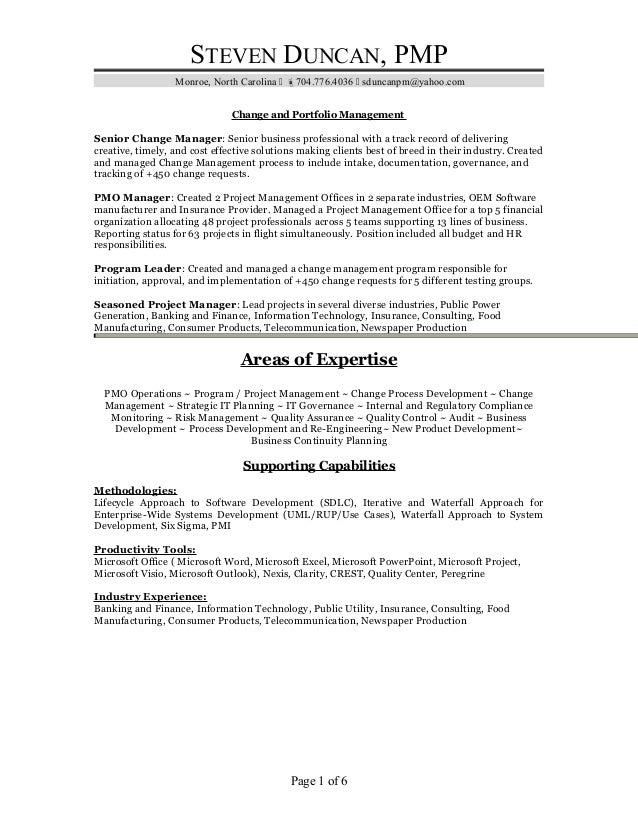 Duncan Resume Primary Nc 2017