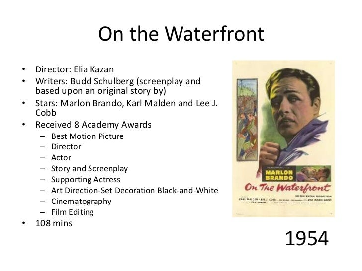 An analysis of elia kazans direction of on the waterfront