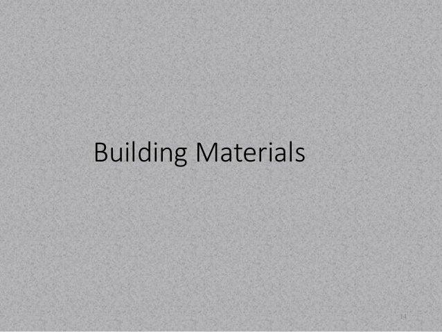 Building Materials  14