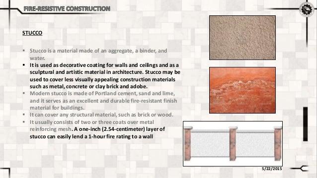 Fire Resistant Reinforcement : Fire resistive construction