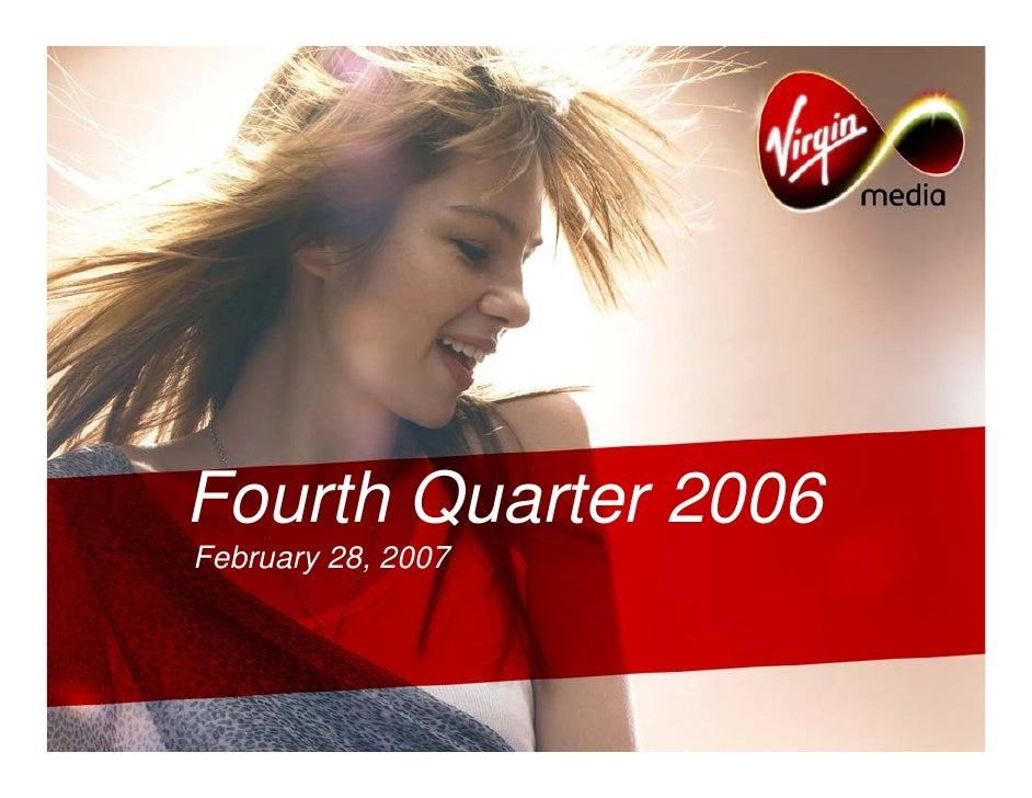 Fourth Quarter 2006 February 28, 2007