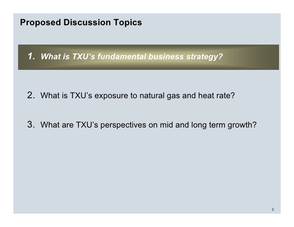 Txu Energy Gas