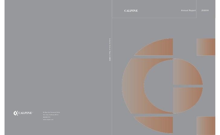 CALPINE   Annual Report   2004
