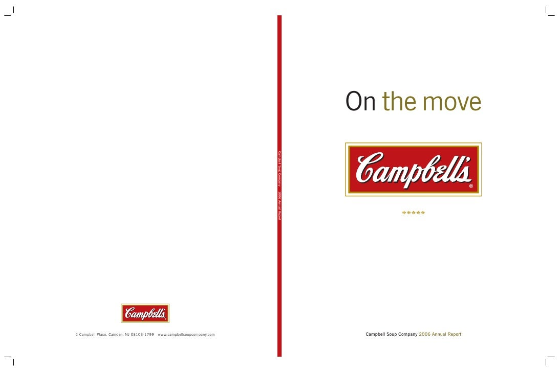 On the move      Campbell Soup Company 2006 Annual Report