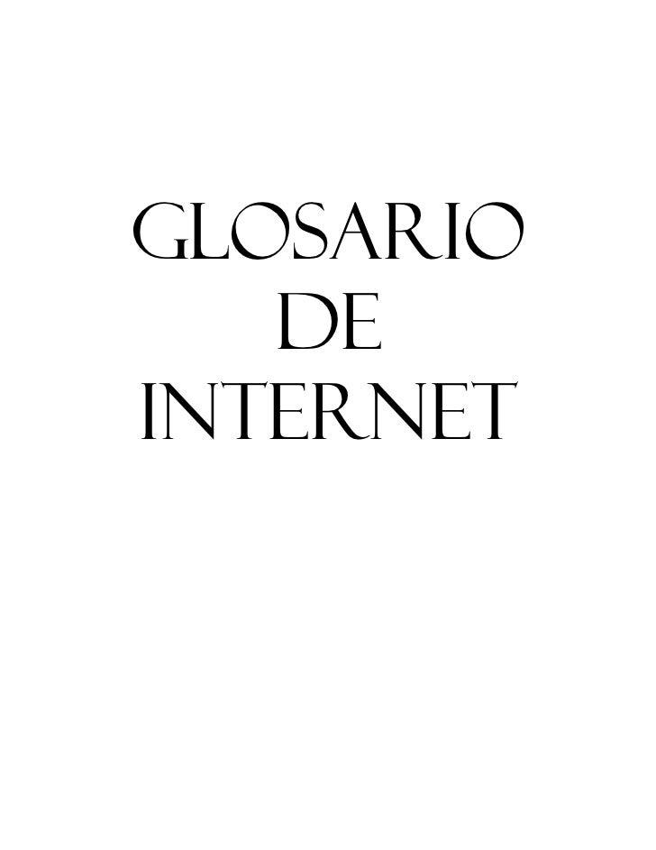 Glosario   DeInternet