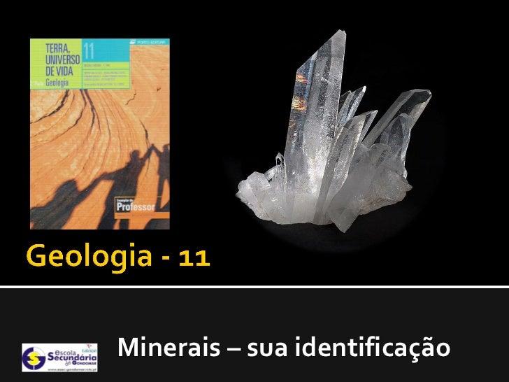 Minerais – sua identificação
