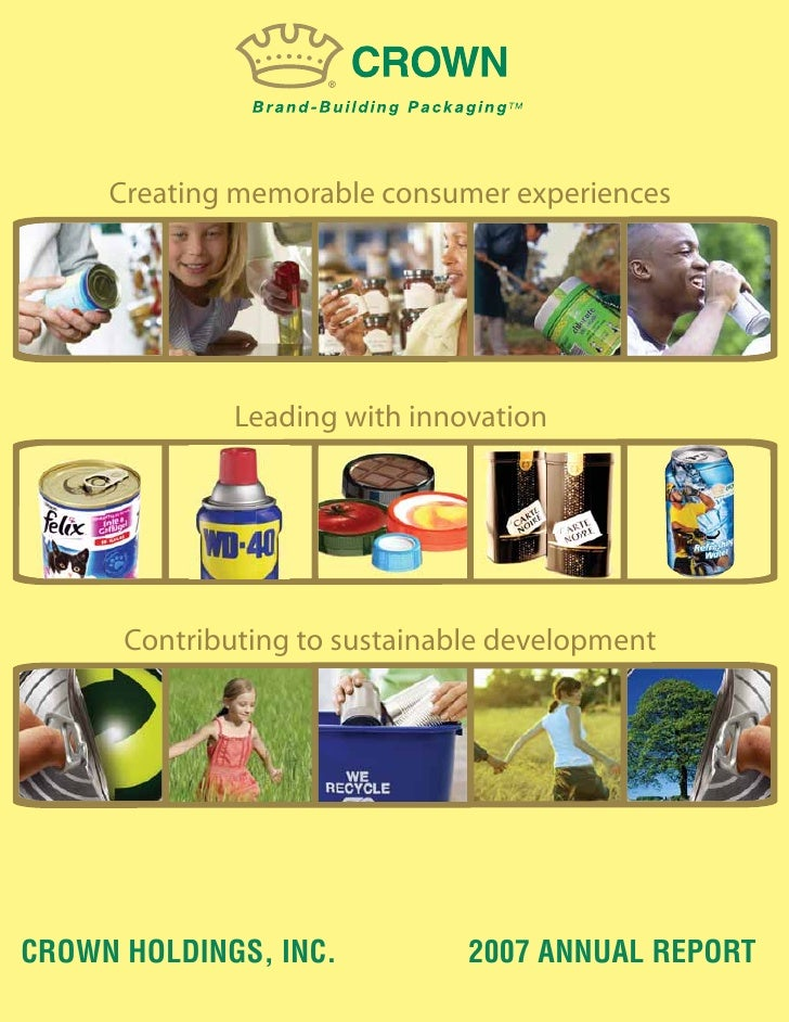 Creating memorable consumer experiences                   Leading with innovation           Contributing to sustainable de...