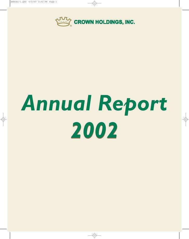 ANNUAL~1.QXD 4/2/03 2:42 PM Page 1             Annual Report             2002