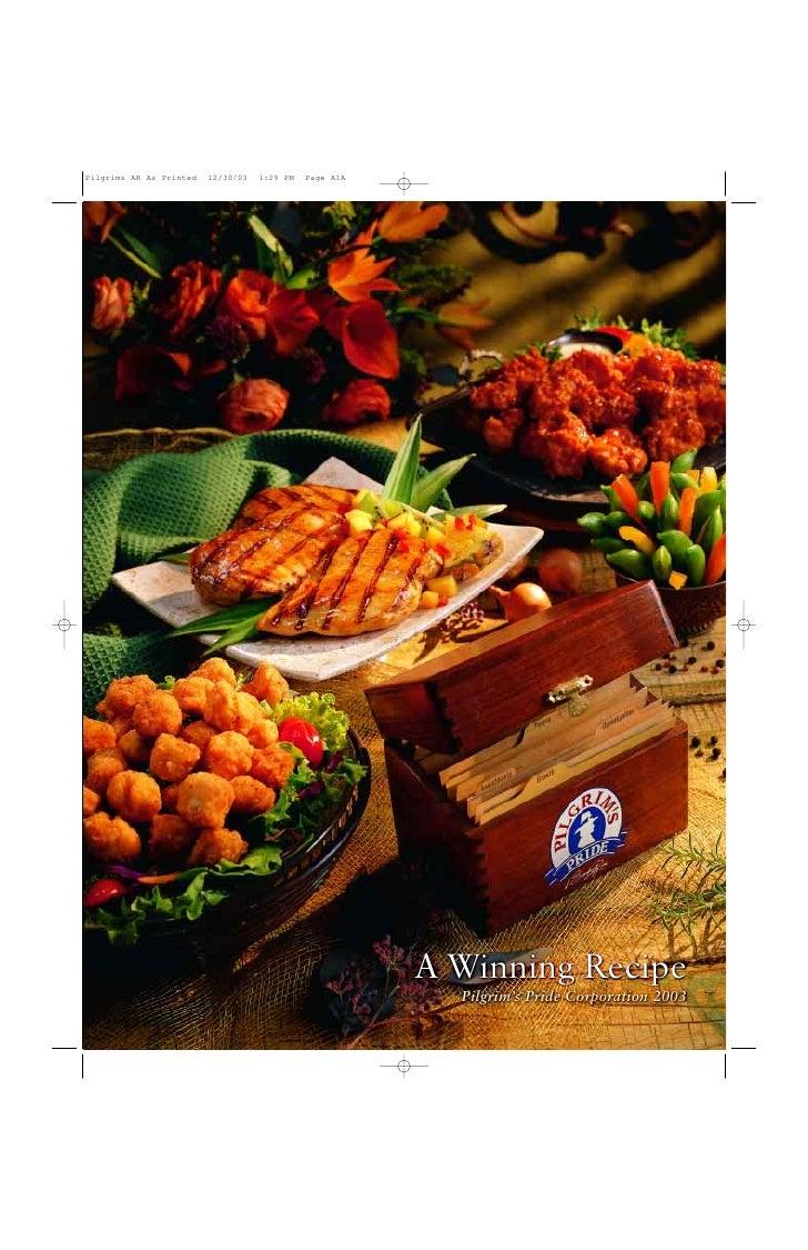 A Winning Recipe   Pilgrim's Pride Corporation 2003