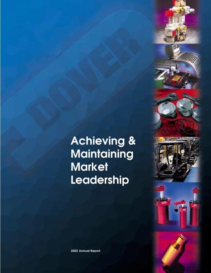 Achieving & Maintaining Market Leadership     2002 Annual Report