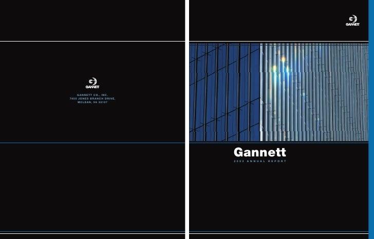s     Gannett 2003   ANNUAL   REPORT