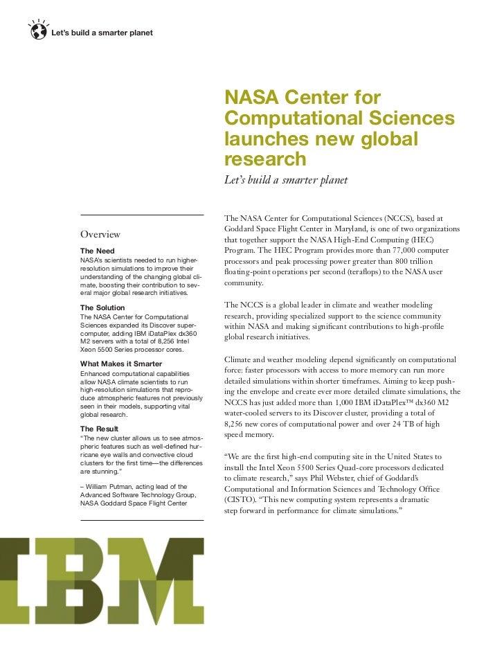 NASA Center for                                             Computational Sciences                                        ...