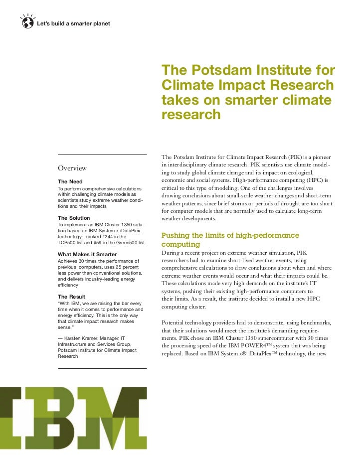 The Potsdam Institute for                                           Climate Impact Research                               ...