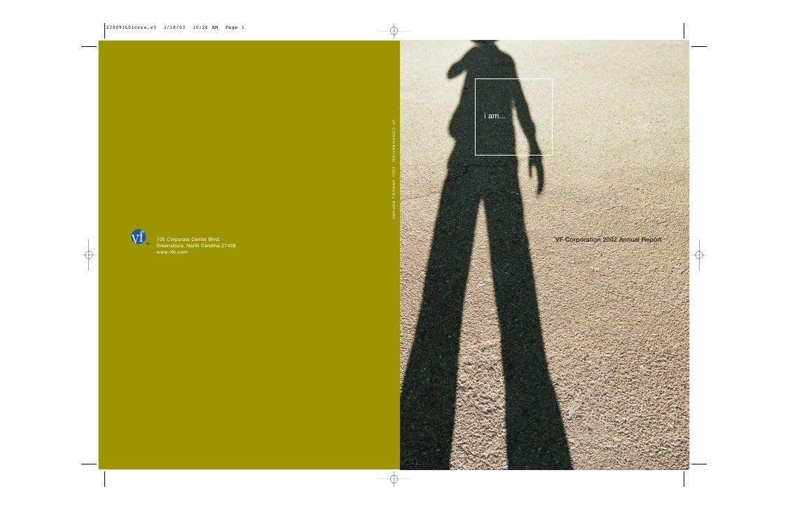 i am...               VF Corporation 2002 Annual Report