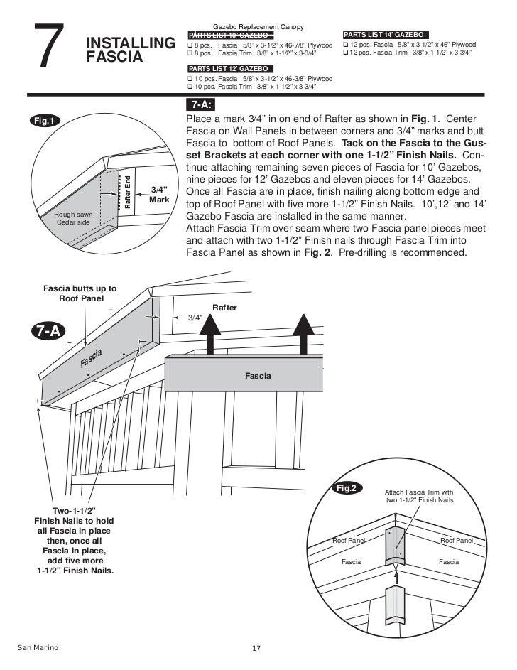 San Marino 1012 And 14 Gazebo Assembly And Instructions Manual